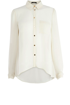 DIPPY HEM CHIFFON BLOUSE €50.00 BY OASIS- oasis-stores.com