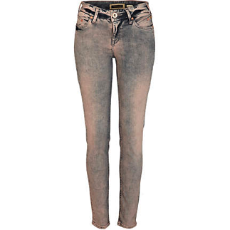 LILAC ACID WASH SKINNY JEANS by Oasis £40.00