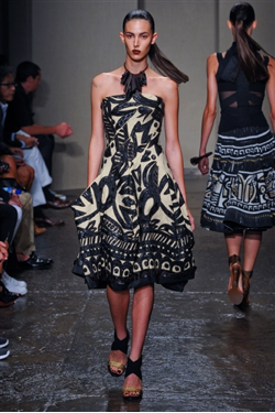 Donna Karan Spring/Summer 2012. Tribal fashion inspired by Haiti