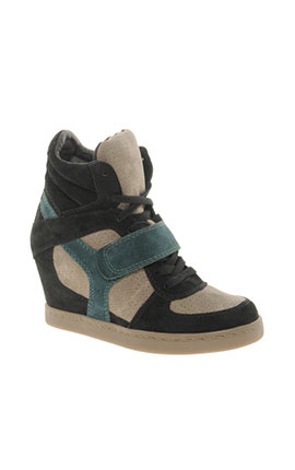 Ash Cool Multicoloured Green Wedge Trainers  €248.80 at www.asos.com