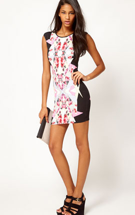 Lipsy Tapestry Print Bodycon Dress  €56.87 from ASOS