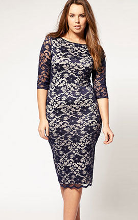 ASOS CURVE Exclusive Midi Dress In Lace  €63.98 in sizes 18 - 26