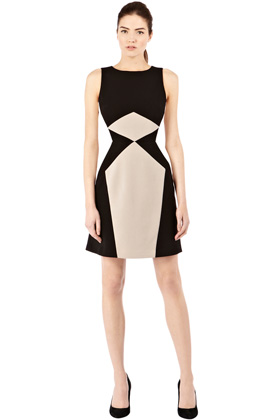 MORE DASH than CASH - BLOCKED A LINE DRESS Price: £55.00 at Warehouse